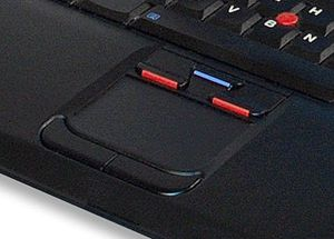 Touchpad and a pointing stick on an IBM Laptop