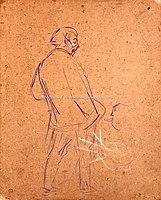 Toulouse-Lautrec - ARISTIDE BRUANT CHANTANT DANS SON CABARET, 1892, MTL.143.jpg