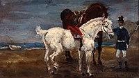 Toulouse-Lautrec - DEUX CHEVAUX ET GROOM, 1880, MTL.27.jpg