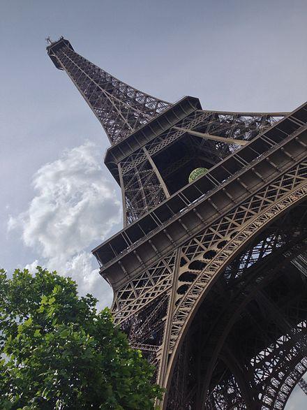 La tour eiffel vue des 3 tages en mai 2014 tour eiffel - Restaurant dans la tour eiffel ...
