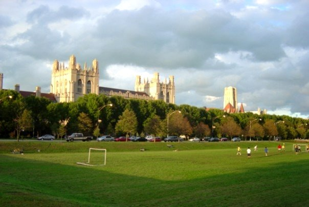 Towers of the Main Quadrangle of the University of Chicago (seen from Midway Plaisance)