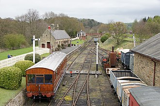 Beamish Museum - Rowley station and yard.