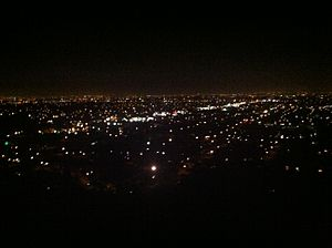 El Modena, California - View from a trail in the El Modena Open Space at night. Most of northwest Orange County can be seen here.