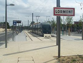 End of Bordeaux Tramway Line A