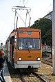 Tram in Sofia near Russian monument 086.jpg
