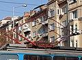 Tram in Sofia near Sofia statue 2012 PD 050.jpg
