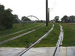 Tram lines at Gogar (geograph 3093372).jpg