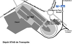 Société de Transports de l'Agglomération Stéphanoise - Transpôle dépot.