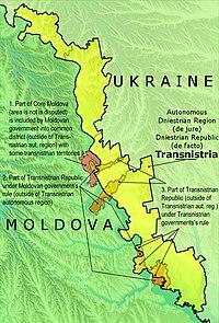 Transnistria Wikipedia - Transnistria map