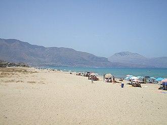 Alcamo - Part of the beach of Alcamo Marina in summer
