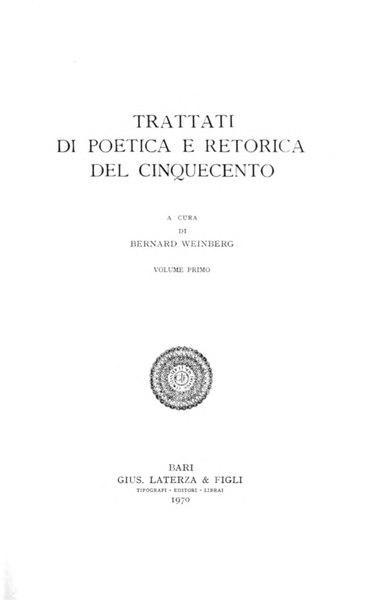 File:Trattati di poetica e retorica del Cinquecento, Vol. I, 1970 – BEIC 1950655.djvu