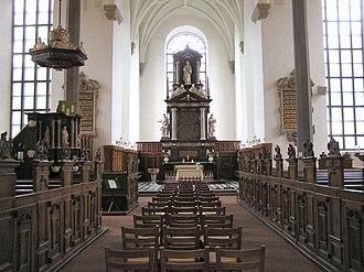 Trinity Church, Kristianstad - Nave and chancel.