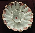 Trembleuse saucer, c. 1725, Du Paquier factory, hard-paste porcelain, overglaze enamels, gilding - Gardiner Museum, Toronto - DSC00960.JPG