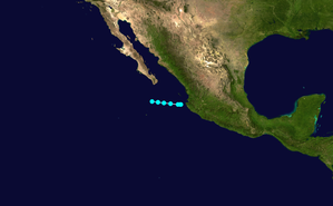 1949 Pacific hurricane season - Image: Tropical Storm 1 E 1949 track