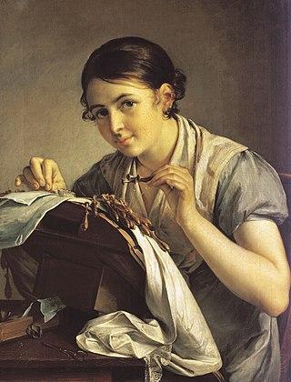 Кружевница. 1823. Третьяковская галерея, Москва.