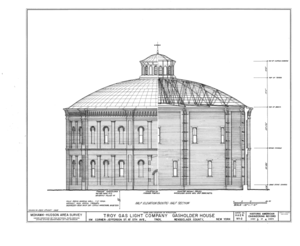 Troy Gas Light Company - Half Elevation Details, Troy Gas Light Company, Gasholder Building, Historic American Engineering Record