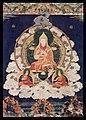 Tsongkapa emanating from the heart of the bodhisattva Maitreya.jpg
