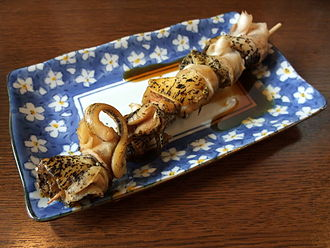 Whelk - Skewered whelks from Japan.