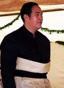 Tupoutoʻa ʻUlukalala at the festivities of his parents coronation.jpg