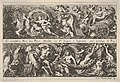 Two Designs for Frieze Decorations with Sea Creatures, of which one with Neptune and Amphitrite, from- Frises, feuillages ou tritons marins antiques et modernes MET DP834200.jpg