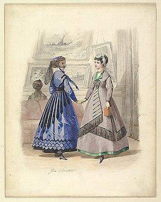 Jules David - Two Women in an Art Gallery (1868)