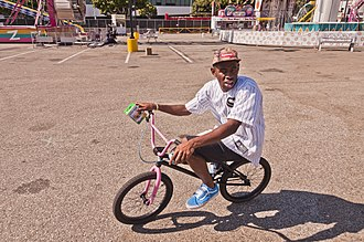 Tyler, the Creator - Okonma on his pink BMX in September 2012