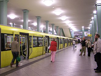 Berlin U-Bahn - Alexanderplatz on the U5