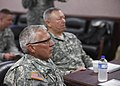 U.S. Army Maj. Gen. Myles Deering, foreground, the adjutant general of Oklahoma, and Gen. Frank J. Grass, right, the chief of the National Guard Bureau, listen to a situation brief in Oklahoma City May 28, 2013 130528-Z-VF620-3873.jpg