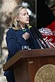 U.S. Secretary of State Hillary Rodham Clinton gives remarks during a press conference with Afghan President Hamid Karzai at the Presidential Palace in Kabul, Afghanistan 111020-S-PA947-910.jpg
