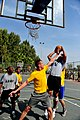 U.S. Soldiers, assigned to 5th Battalion, 7th Air Defense Artillery Regiment, and Israeli Defense Forces soldiers compete in a basketball game during a field competition in Hazor, Israel 121101-F-QW942-459.jpg