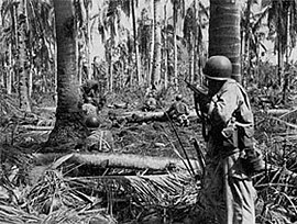 U.S. infantrymen in action