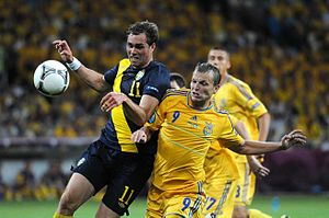 Sport in Ukraine - Match of Ukraine national football team in UEFA Euro 2012.
