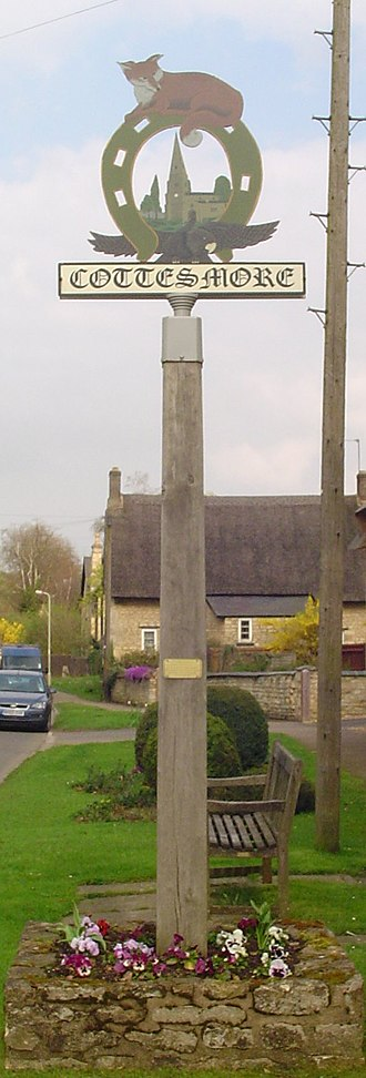 Cottesmore, Rutland - Signpost in Cottesmore