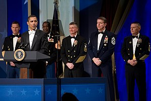 Senior enlisted advisor - The SEAs from each branch at the 2009 Commander in Chief's Ball