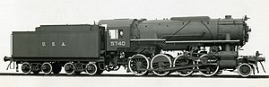 United States Army Transportation Corps class S160 - Lima Locomotive Works builder portrait of USATC number 5740