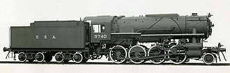 USATC S160 Class - Lima Locomotive Works builder portrait of USATC number 5740