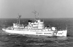 USS Absecon (AVP-23) - USCGC Absecon (WHEC-374) on 27 December 1969.