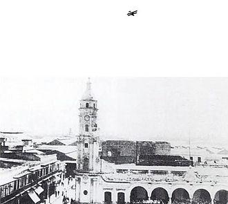 Henry C. Mustin (1874–1923) - U.S. Navy aircraft over Veracruz, Mexico, in 1914.