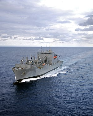 USNS Lewis and Clark in the Atlantic Ocean, December 2006