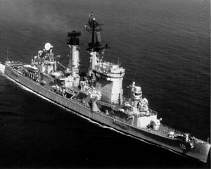 USS Albany (CG-10) in the 1970s.