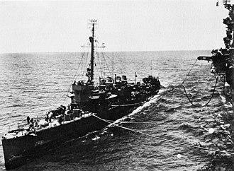 USS Bainbridge (DD-246) - Image: USS Bainbridge (DD 246) being refueled in 1944