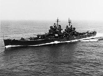 USS Baltimore (CA-68) - Baltimore off the coast of Massachusetts, June 1943