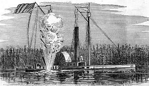 USS Bazely sinking