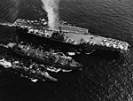 USS Neosho (AO-143) refuels USS Independence (CVA-62) and USS Dyess (DDR-880) in July 1961.jpg