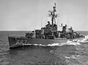 USS Newman K Perry (DDR-883) underway