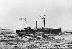 USS Wateree beached