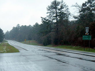 U.S. Route 71 in Arkansas - First reassurance marker south of the AR 23 junction in Scott County