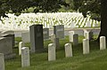 US Navy 030617-N-9593R-080 Arlington Mansion and 200 acres of ground immediately surrounding it were officially designated as a military cemetery June 15, 1864, by Secretary of War Edwin M. Stanton.jpg