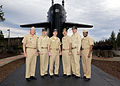 US Navy 040122-N-0141W-001 From left to right, Rear Adm. Paul Sullivan, Commander Submarine Force, U.S. Pacific Fleet, Cmdr. Brain Mcllvaine, Commanding officer USS Ohio (SSBN 726).jpg