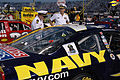US Navy 050909-N-2820Z-003 Commander, Naval Submarine Forces, Vice Adm. Chuck Munns, right, and is flag aid, Lt. Cmdr. Paul Steinbrenner, inspect the ^14 Navy NASCAR.jpg